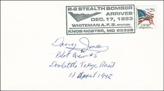 MAJOR GENERAL DAVY (DAVID M.) JONES - COMMEMORATIVE ENVELOPE SIGNED
