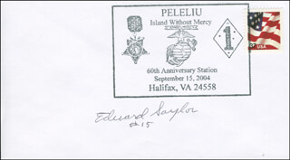 LT. COLONEL EDWARD J. SAYLOR - COMMEMORATIVE ENVELOPE SIGNED