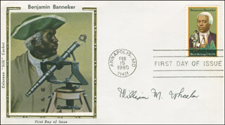 WILLIAM M. WHEELER - FIRST DAY COVER SIGNED