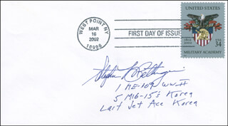 Autographs: COLONEL STEPHEN L. BETTINGER - FIRST DAY COVER SIGNED