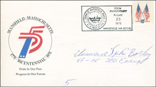 COMMANDER CLARENCE A. SPIKE BORLEY - COMMEMORATIVE ENVELOPE SIGNED