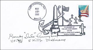 RANDALL DUKE CUNNINGHAM - COMMEMORATIVE ENVELOPE SIGNED