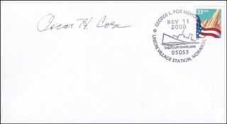 LT. COLONEL OSCAR H. COEN - COMMEMORATIVE ENVELOPE SIGNED