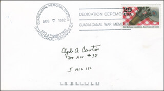 MAJOR CLYDE A. CURTIN - COMMEMORATIVE ENVELOPE SIGNED