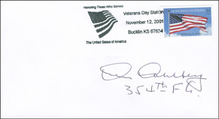 Autographs: CAPTAIN KEN DAHLBERG - COMMEMORATIVE ENVELOPE SIGNED