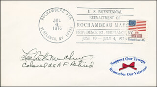 COLONEL LESLIE MINCHEW - COMMEMORATIVE ENVELOPE SIGNED