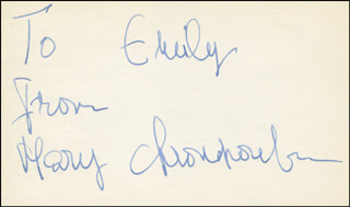 MARY CHRONOPOULOU - AUTOGRAPH NOTE SIGNED