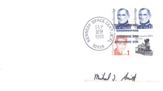 CAPTAIN MICHAEL J. SMITH - ENVELOPE SIGNED CIRCA 1988