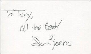 IAN ZIERING - AUTOGRAPH NOTE SIGNED