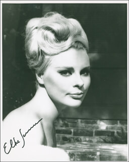 ELKE SOMMER - AUTOGRAPHED SIGNED PHOTOGRAPH