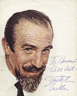 MITCH MILLER - INSCRIBED PRINTED ART SIGNED
