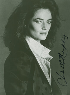 CHARLOTTE RAMPLING - AUTOGRAPHED SIGNED PHOTOGRAPH
