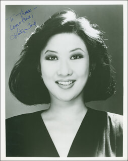 KAITY TONG - AUTOGRAPHED INSCRIBED PHOTOGRAPH