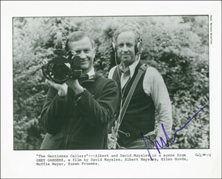 ALBERT MAYSLES - PRINTED PHOTOGRAPH SIGNED IN INK