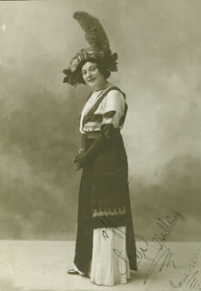 STEFI CSILLAG - AUTOGRAPHED SIGNED PHOTOGRAPH 1912