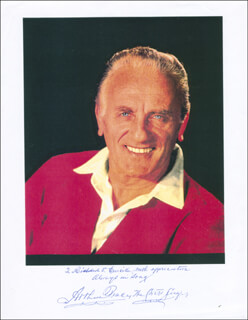 ARTHUR TRACY - AUTOGRAPHED INSCRIBED PHOTOGRAPH 09/18/1995