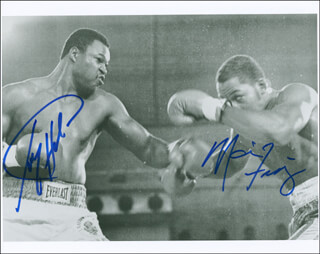 LARRY HOLMES - AUTOGRAPHED SIGNED PHOTOGRAPH CO-SIGNED BY: MARVIS FRAZIER