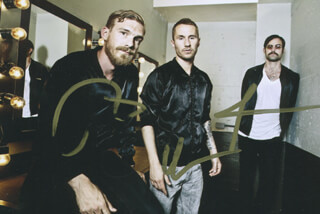 MIIKE SNOW - AUTOGRAPHED SIGNED PHOTOGRAPH CO-SIGNED BY: MIIKE SNOW (ANDREW WYATT), MIIKE SNOW (PONTUS WINNBERG), MIIKE SNOW (CHRISTIAN KARLSSON)