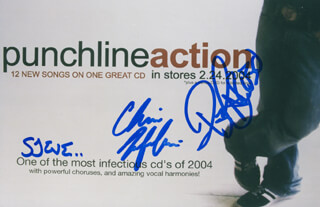PUNCHLINE - AUTOGRAPHED SIGNED PHOTOGRAPH CO-SIGNED BY: PUNCHLINE (CHRIS FAFALIOS), PUNCHLINE (P.J. CARUSO)