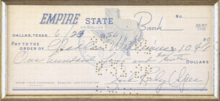 Autographs: JACK RUBY - CHECK SIGNED & ENDORSED 06/23/1956