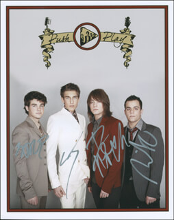 PUSH PLAY - AUTOGRAPHED SIGNED PHOTOGRAPH CO-SIGNED BY: PUSH PLAY (CJ BARAN), PUSH PLAY (STEVE SCAROLA), PUSH PLAY (NICK DETURRIS), PUSH PLAY (DEREK RIES)