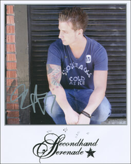 SECONDHAND SERENADE (JOHN VESELY) - AUTOGRAPHED SIGNED PHOTOGRAPH