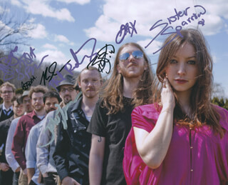 SISTER SPARROW AND THE DIRTY BIRDS - AUTOGRAPHED SIGNED PHOTOGRAPH CO-SIGNED BY: SISTER SPARROW AND THE DIRTY BIRDS (ARLEIGH KINCHELOE), SISTER SPARROW AND THE DIRTY BIRDS (JACKSON KINCHELOE), SISTER SPARROW AND THE DIRTY BIRDS (BRAM KINCHELOE), SISTER SPARROW AND THE DIRTY BIRDS (JOHNNY BUTLER), SISTER SPARROW AND THE DIRTY BIRDS (SASHA BROWN), SISTER SPARROW AND THE DIRTY BIRDS (J.J. BYARS), SISTER SPARROW AND THE DIRTY BIRDS (RYAN SNOW), SISTER SPARROW AND THE DIRTY BIRDS (PHIL RODRIGUEZ), SISTER SPARROW AND THE DIRTY BIRDS (AIDAN CARROLL)