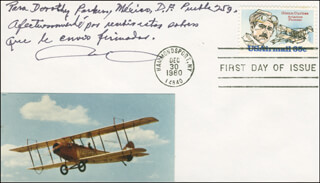 Autographs: GENERAL ROBERTO FIERRO VILLALOBOS - FIRST DAY COVER WITH AUTOGRAPH SENTIMENT SIGNED