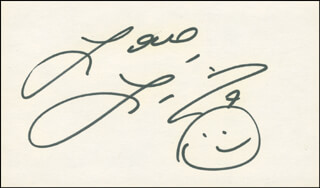 LIZA MINNELLI - AUTOGRAPH SENTIMENT SIGNED