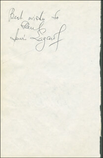 HENRI LAZAROF - AUTOGRAPH NOTE SIGNED CO-SIGNED BY: HAL HOLBROOK