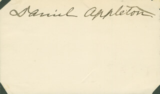 MAJOR GENERAL DANIEL APPLETON - AUTOGRAPH