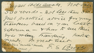 ELBRIDGE STREETER BROOKS - AUTOGRAPH LETTER SIGNED 05/18/1892