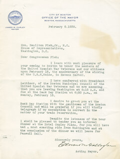 EDWARD M. GALLAGHER - TYPED LETTER SIGNED 02/08/1932