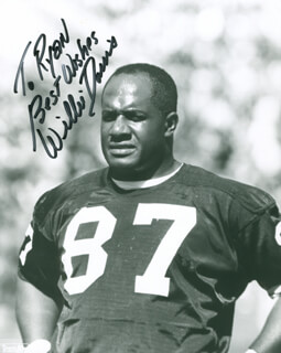 WILLIE DAVIS - AUTOGRAPHED INSCRIBED PHOTOGRAPH