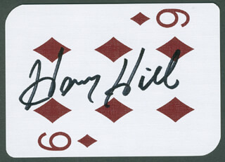 HENRY HILL - PLAYING CARD SIGNED  - HFSID 299813