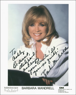 BARBARA MANDRELL - INSCRIBED PRINTED PHOTOGRAPH SIGNED IN INK