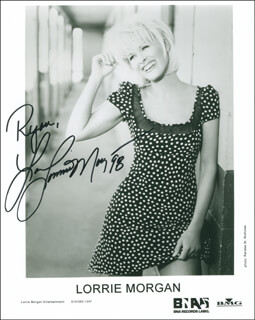 LORRIE MORGAN - INSCRIBED PRINTED PHOTOGRAPH SIGNED IN INK