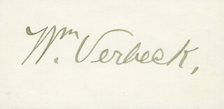 MAJOR GENERAL WILLIAM VERBECK - CALLING CARD SIGNED