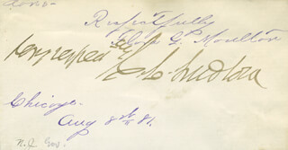 GEORGE C. LUDLOW - AUTOGRAPH 1881 CO-SIGNED BY: FLORA G. MOULTON