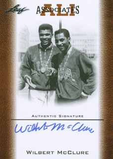 WILBERT MCCLURE - TRADING/SPORTS CARD SIGNED