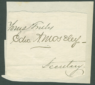 EDWARD A. MOSELEY - AUTOGRAPH SENTIMENT SIGNED
