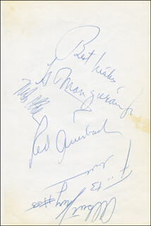 Autographs: RED (ARNOLD JACOB) AUERBACH - SIGNATURE(S) CO-SIGNED BY: BUCK WILLIAMS, LEN ELMORE, EDDIE PHILLIPS, MIKE O'KOREN, ALBERT KING
