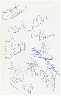 THE INDIANA PACERS - AUTOGRAPH MUSICAL QUOTATION SIGNED CO-SIGNED BY: DAVE TWARDZIK, HERB WILLIAMS, ROBERT SAXTON, MALCOLM LOWE, REGGIE MILLER, EVERETTE STEPHENS, SCOTT SKILES