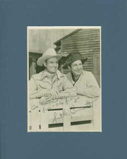 SMILEY (LESTER) BURNETTE - AUTOGRAPHED INSCRIBED PHOTOGRAPH  - HFSID 299867