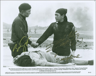INCHON MOVIE CAST - AUTOGRAPHED SIGNED PHOTOGRAPH CO-SIGNED BY: TOSHIRO MIFUNE, BEN GAZZARA
