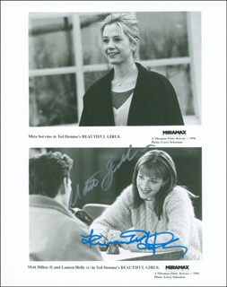 BEAUTIFUL GIRLS MOVIE CAST - AUTOGRAPHED SIGNED PHOTOGRAPH CO-SIGNED BY: MATT DILLON, LAUREN HOLLY