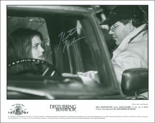 KATIE HOLMES - AUTOGRAPHED SIGNED PHOTOGRAPH