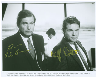 INTERNATIONAL AIRPORT MOVIE CAST - AUTOGRAPHED SIGNED PHOTOGRAPH CO-SIGNED BY: GIL GERARD, CLIFF POTTS