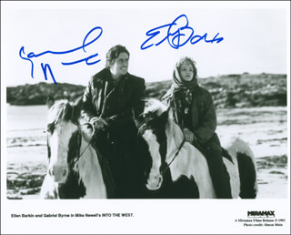 INTO THE WEST MOVIE CAST - AUTOGRAPHED SIGNED PHOTOGRAPH CO-SIGNED BY: ELLEN BARKIN, GABRIEL BYRNE