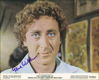 GENE WILDER - PRINTED PHOTOGRAPH SIGNED IN INK